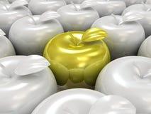 модель яблока 3d Стоковая Фотография RF