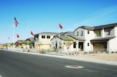 модель 4 домов Стоковое Фото