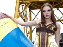 модель ar красивейшая женская промышленная Стоковое Изображение RF