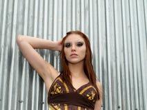 модель ar красивейшая женская промышленная Стоковая Фотография