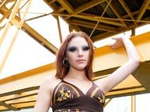 модель ar красивейшая женская промышленная Стоковое фото RF