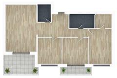 модель 3d пустой домашней квартиры Стоковая Фотография RF