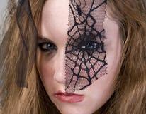 модель goth брюнет Стоковое Изображение RF