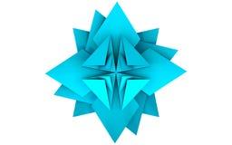 Модель 11 Origami бумажного цветка иллюстрация вектора