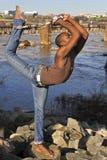 модель richmond va танцора афроамериканца Стоковые Фото