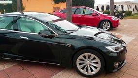 Модель s Tesla и модель x Tesla сток-видео