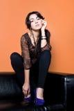 Модная молодая красотка стоковые фотографии rf