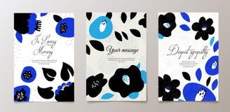 Модная похоронная карточка, извещение о смерти вектор техника eps конструкции 10 предпосылок бесплатная иллюстрация