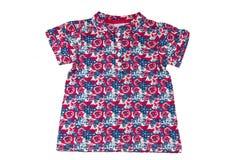 Модная рубашка маленькой девочки с флористической печатью Красота и styl стоковое изображение