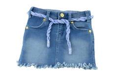Модная юбка голубых джинсов для детей стоковое фото