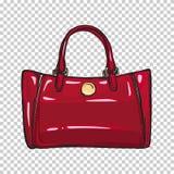 Модной лоснистой красной иллюстрация изолированная сумкой иллюстрация штока