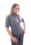 модно над белой женщиной стоковое фото rf