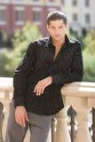 модный красивый человек стоковая фотография