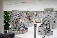 Модный отдел ботинок на открытии Сиама, Бангкоке, Thailan Стоковое Изображение RF
