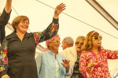 Модный парад на 1250 летах торжества деревни в Oberdigisheim стоковое фото rf