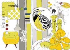 Модный цвет эскиз Стоковое Изображение