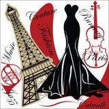 модный paris бесплатная иллюстрация