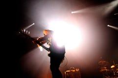 Мое химическое Romance (американская рок-группа от Нью-Джерси), выполняет на клубе Sant Jordi Стоковые Изображения