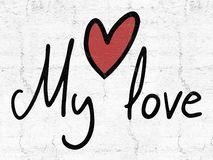 Мое messge любов бесплатная иллюстрация