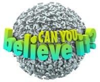 Можете вы верить ему шарик невероятный неимоверный f вопросительных знаков иллюстрация штока