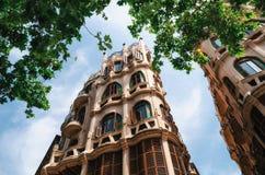 Может здание nouveau искусства Casasayas в Palma de Mallorca, Балеарских островах, Испании Стоковое Фото