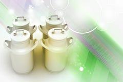 Может контейнер для молока иллюстрация штока