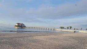 Может пляж Gio в утре стоковая фотография rf