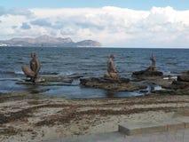 Может пляж Picafort, Испания, Майорка Стоковая Фотография