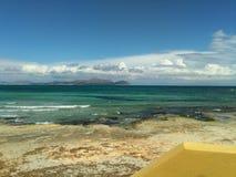 Может пляж Picafort, Испания, Майорка Стоковые Изображения