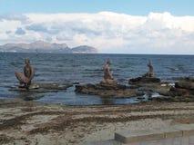 Может пляж Picafort, Испания, Майорка Стоковое фото RF