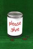 может пожертвование стоковое изображение rf