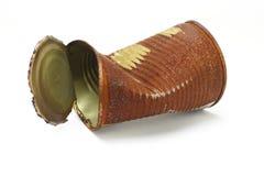 может покрошенное старое ржавое олово Стоковая Фотография RF