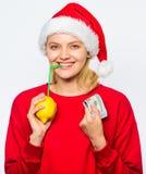 может прочесать друзья рождества приветствовать праздники вариант ночи к желаниям пишет Богатая девушка с лимоном и деньгами Милл стоковое фото