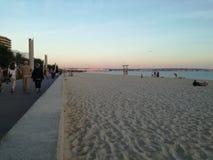 Может пляж Pastilla в Майорке стоковое изображение