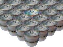 Может сохраненной еды на белой предпосылке, пластмассы может еда Стоковые Изображения RF