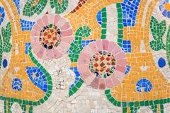 Мозаика Антонио Gaudi, Палау de Ла Musica, Барселоной, Испанией Стоковое фото RF