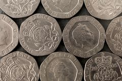 мозаика 20 великобританская пенни Стоковые Фотографии RF