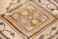 Мозаика в национальном парке Zippori (Tsipori) Израиль Стоковое Фото