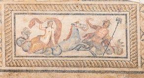 Мозаика в домах террасы, древний город Nereid и тритона Ephesus Стоковая Фотография