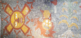 Мозаика в пределах Museo Anahuacalli Стоковое Фото