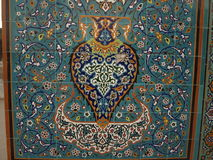 Мозаика в святыне Hazrat Али, Mazar-i-Sharif стоковая фотография rf