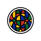 Мозаика дизайна логотипа Стоковое Изображение RF