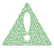 Мозаика знака треугольника извещения деталей химической войны агента нервно-паралитического действия Wmd иллюстрация вектора