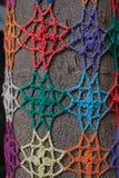 Мозаика картины цветка Knit Стоковые Изображения