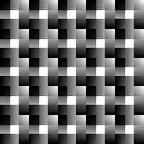 Мозаика квадратов абстрактный monochrome предпосылки перекрывать Стоковые Фотографии RF