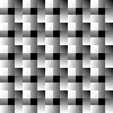Мозаика квадратов абстрактный monochrome предпосылки Перекрывая f Стоковые Фото