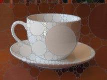 Мозаика кофейной чашки и поддонника Стоковая Фотография RF