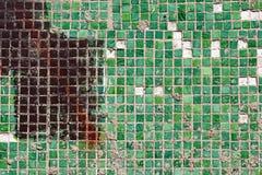 Мозаика малых квадратных плиток стоковое фото rf