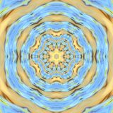 Мозаика мандалы весны флористическая Стоковые Изображения