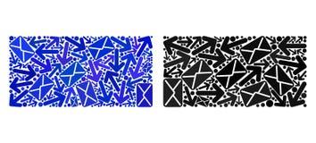 Мозаика маршрутов столба заполнила значки прямоугольника иллюстрация штока